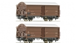 Roco 67122 | H0 DSB set sliding wall freight wagons