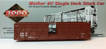 proto 21201 | Mather 40' Single Deck Stock Car CN&W