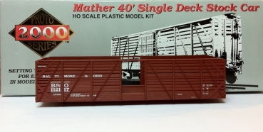 proto 21198 | H0 Mather 40' Single Deck Stock Car B&O