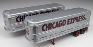 ClassicMetalWorks 31104 | H0 Chicago Express Aerovan Trailer Set